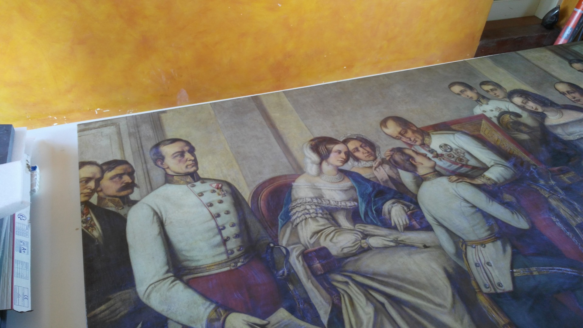 Painting of Franz Joseph I Inauguration is Back in Olomouc